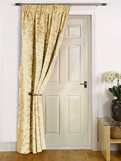 Umlout Rajpur Natural Thermal Crush Velvet Winter Door Curtains Saves Energy Prevents Draughts Reduces Heat Loss Amazon Co Uk Kitchen Home