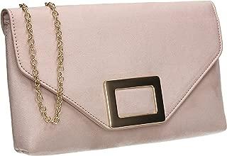 Georgia Faux Suede Metal Detail Clutch Bag
