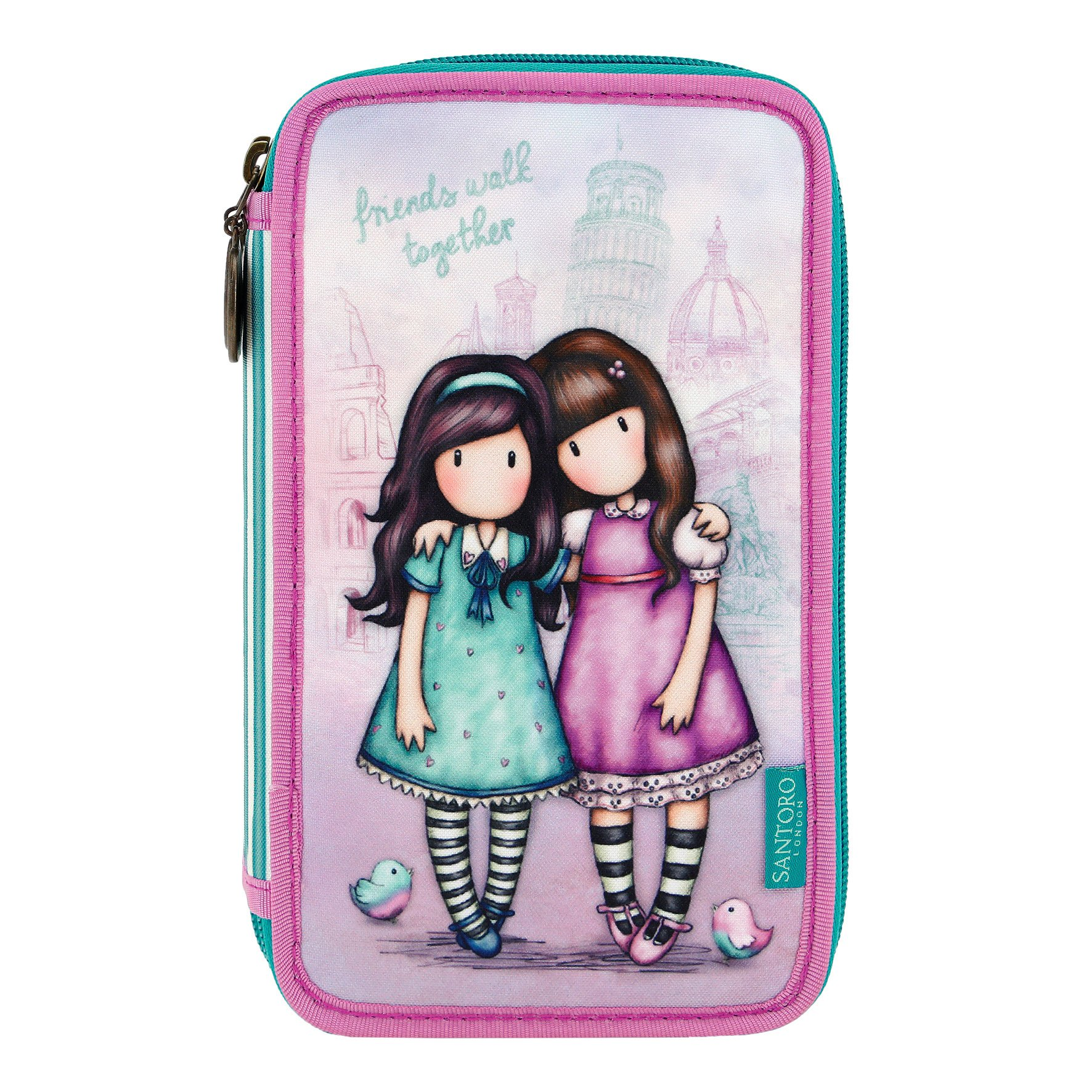 Gor-juss Estuche Plumier Triple Gorjuss - Friends Walk Together - -5% En Libros: Amazon.es: Hogar