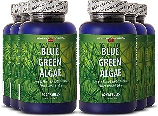 Spirulina chlorella Organic - Blue Green Algae - Support Attention (6 Bottles)