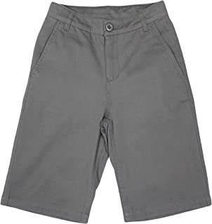 Boy's School Uniforms Flat Front Twill Bermuda Shorts
