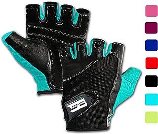 RIMSports Gym Gloves for Powerlifting, Weight Training, Biking, Cycling – Premium..