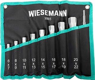 Zestaw kluczy nasadowych do rur 10 szt. 6–22mm firmy WIESEMANN 1893 I Do prac przy kranach, świecach zapłonowych i wielu ...