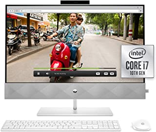 HP 27 Pavilion All-in-One PC, 10th Gen Intel i7-10700T Processor, 16 GB RAM, Dual Storage 512 GB SSD and 1TB HDD, Full HD ...