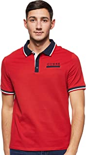 GUESS Men's Les Small Sleeve Polo Knit Top