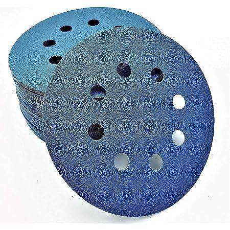 UK 100x 80~3000 grit Sanding Disc Round Abrasive Dry Sandpaper+Back-up Pad Stock