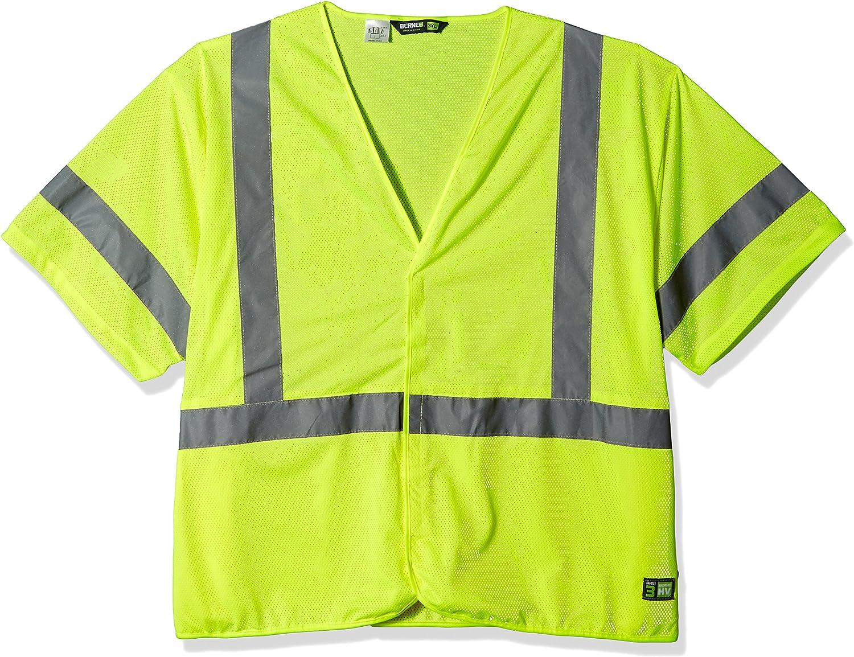 Berne Men's Hi-Visibility Big and Tall Short Sleeve Vest