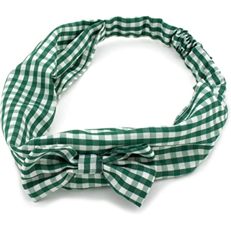 Royal Blue Gingham Check Headband Bandana Scarf Hairband Hair School Tie Band