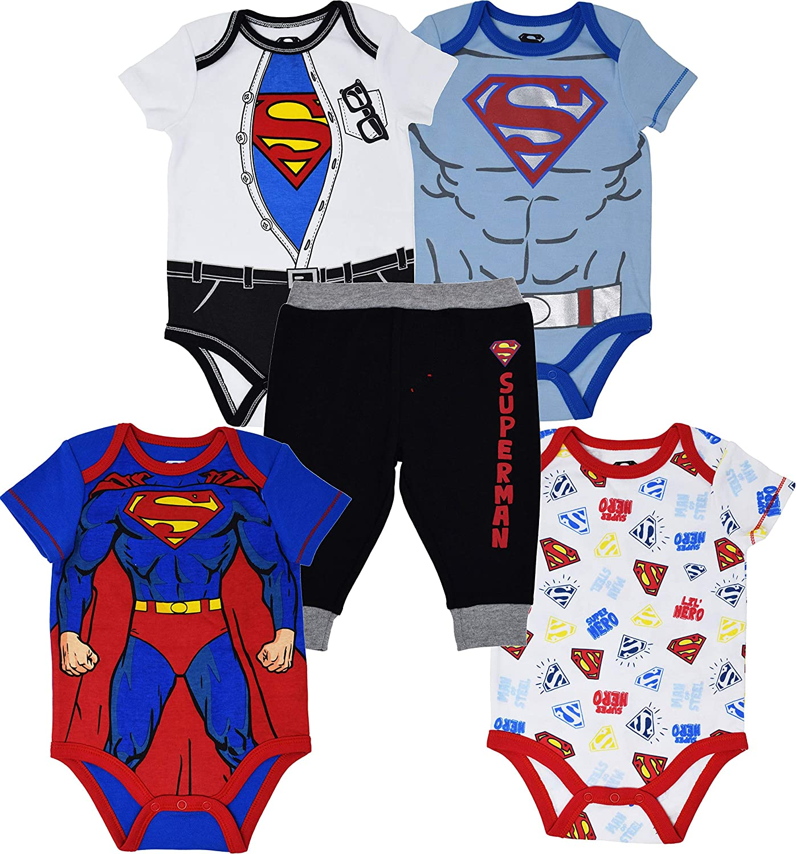 Superman Baby Boys 5 Pants Max 84% OFF Special Campaign Piece Set Bodysuit