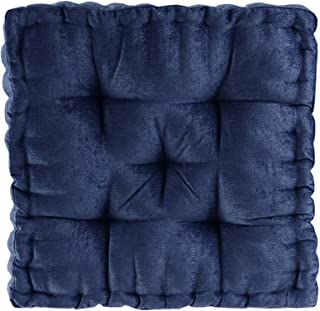 Intelligent Design Azza Floor Pillow Square Pouf Chenille Tufted with Scalloped Edge Design Hypoallergenic Bench/Chair Cus...