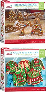 Crafty Cookie Kits - Cookie Mix With Cookie Cutters - In The Mix Ugly Sweater Cookie Kit, 11.5 Ounce And Gingerbread Cooki...