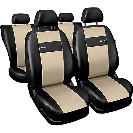 2er Set Saferide Autositzbezüge Pkw Universal Auto Sitzbezüge Kunstleder Beige Für Airbag Geeignet Für Vordersitze 1 1 Autositze Vorne Auto