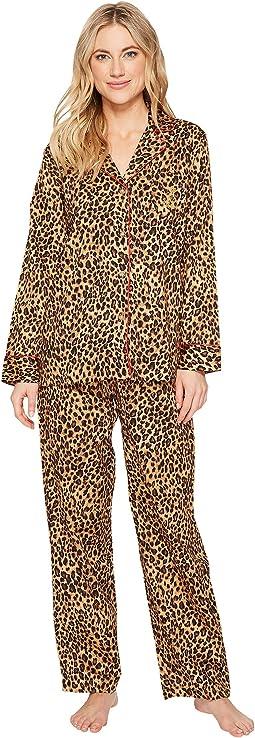LAUREN Ralph Lauren - Folded Sateen Leopard Pajama