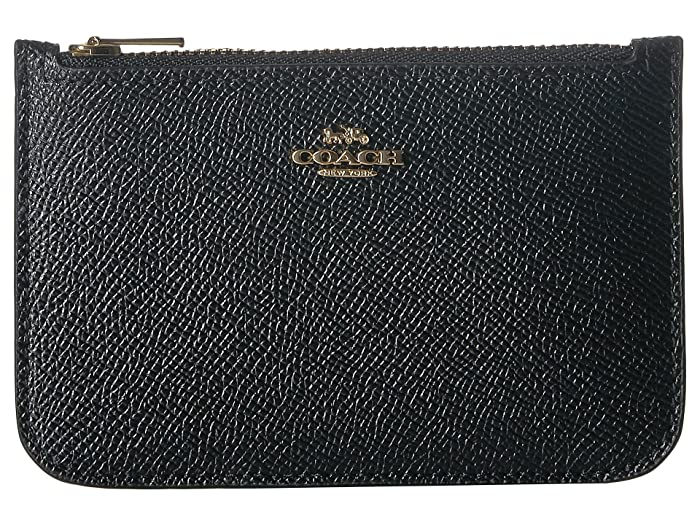 eac1b329db COACH Zip Card Case in Crossgrain Leather | Zappos.com