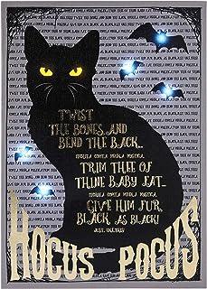 Spirit Halloween Light-Up Binx Hocus Pocus Canvas Sign | Officially Licensed