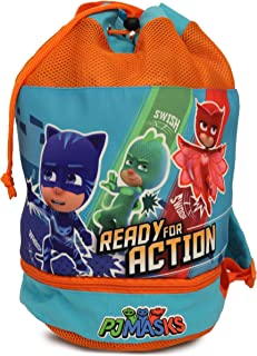 PJ Masks Boy's Beach Drawstring Cinch Backpack Tote Bag