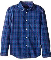 Polo Ralph Lauren Kids - Poplin Long Sleeve Button Down Shirt (Little Kids/Big Kids)
