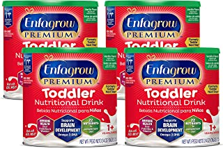Enfagrow Toddler Next Step Milk Drink, Vanilla, Powder, 24 oz Can (Case of 4)
