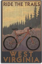 Lantern Press West Virginia - Ride The Trails (10x15 Wood Wall Sign, Wall Decor Ready to Hang)