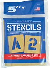 PRO ART 5-Inch Painting Stencil Set, Letters and Numbers