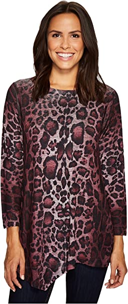 Leopard Print Asymmetric Tunic