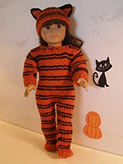 Tiger Outfit for Halloween: Doll knitting pattern