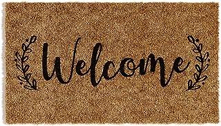 Barnyard Designs 'Welcome' Doormat, Indoor/Outdoor Non-Slip Rug, Front Door Welcome Mat for Outside Porch Entrance, Home E...