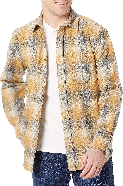 Pendleton Men's Long Sleeve Classic Fit Lodge Wool Shirt