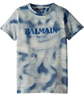 Balmain Kids - Short Sleeve Tie-Dye Logo Tee (Little Kids/Big Kids)