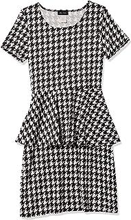 Star Vixen womens Ss Classic Str Ponte Peplum Dress Dress