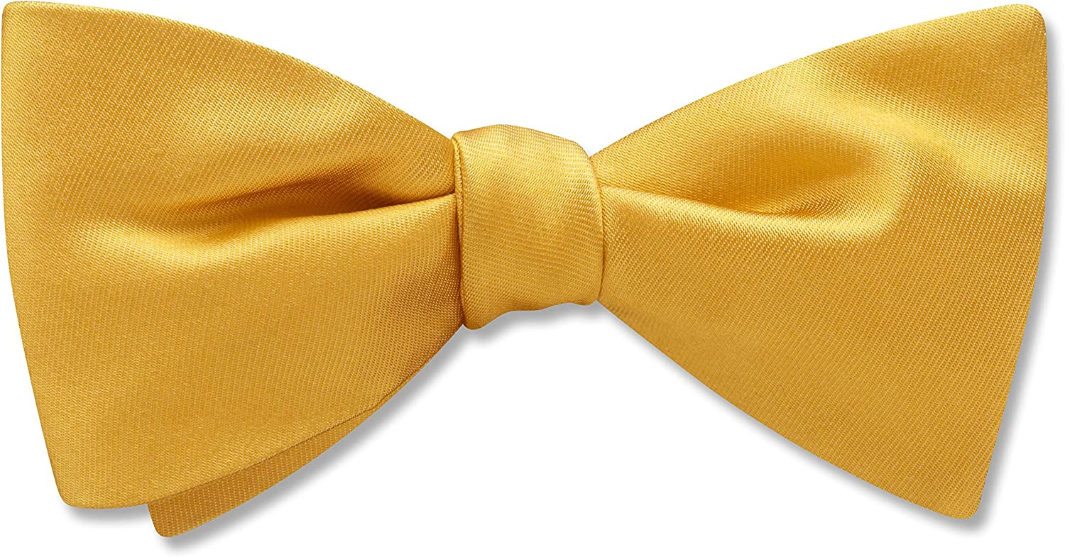 Somerville Canary Yellow/Gold Solid, Men's Bow Tie, Handmade in the USA