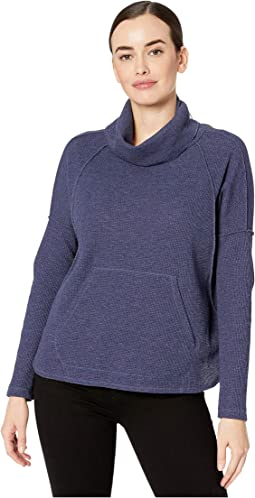 Waffle Knit Easy Turtleneck Top