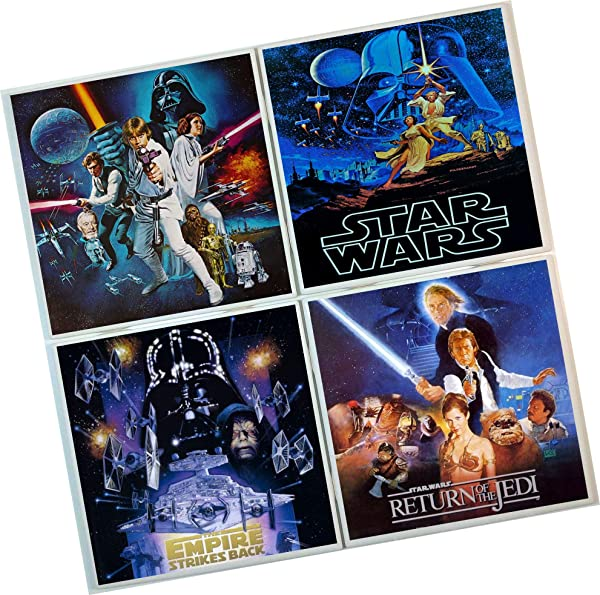 Star Wars Coasters Set Of 4 Tile Coasters Movie Coasters Poster Images