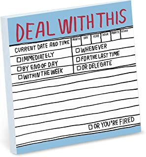 Knock Knock Deal With This Hand-Lettered Sticky Notes