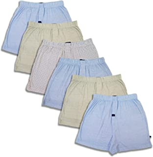 Joseph Abboud Men's 6 Pack Full Cut Cotton Boxers Sleep Shorts