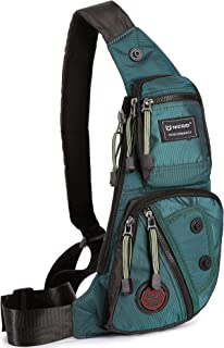 Nicgid Sling Bag Chest Shoulder Backpack Fanny Pack Crossbody Bags for Men(Dark green)