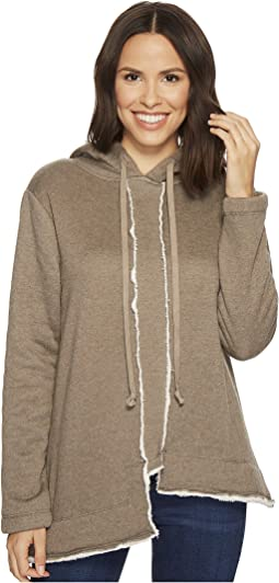 Dylan by True Grit - Faux-Sherpa Fleece Long Seam Detail Hoodie