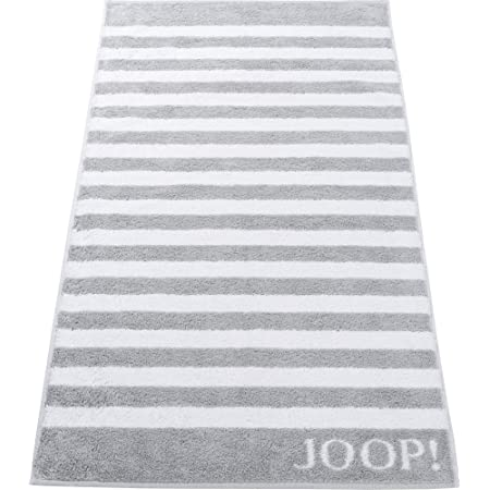 Joop! Handtuch Classic Stripes 1610   76 Silber - 50 x 100