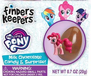 Finders Keepers Milk Chocolate Eggs - My Little Pony Toy Surprise Candy Gifts - Pack of 6 Milk Chocolate Candy Eggs With A...