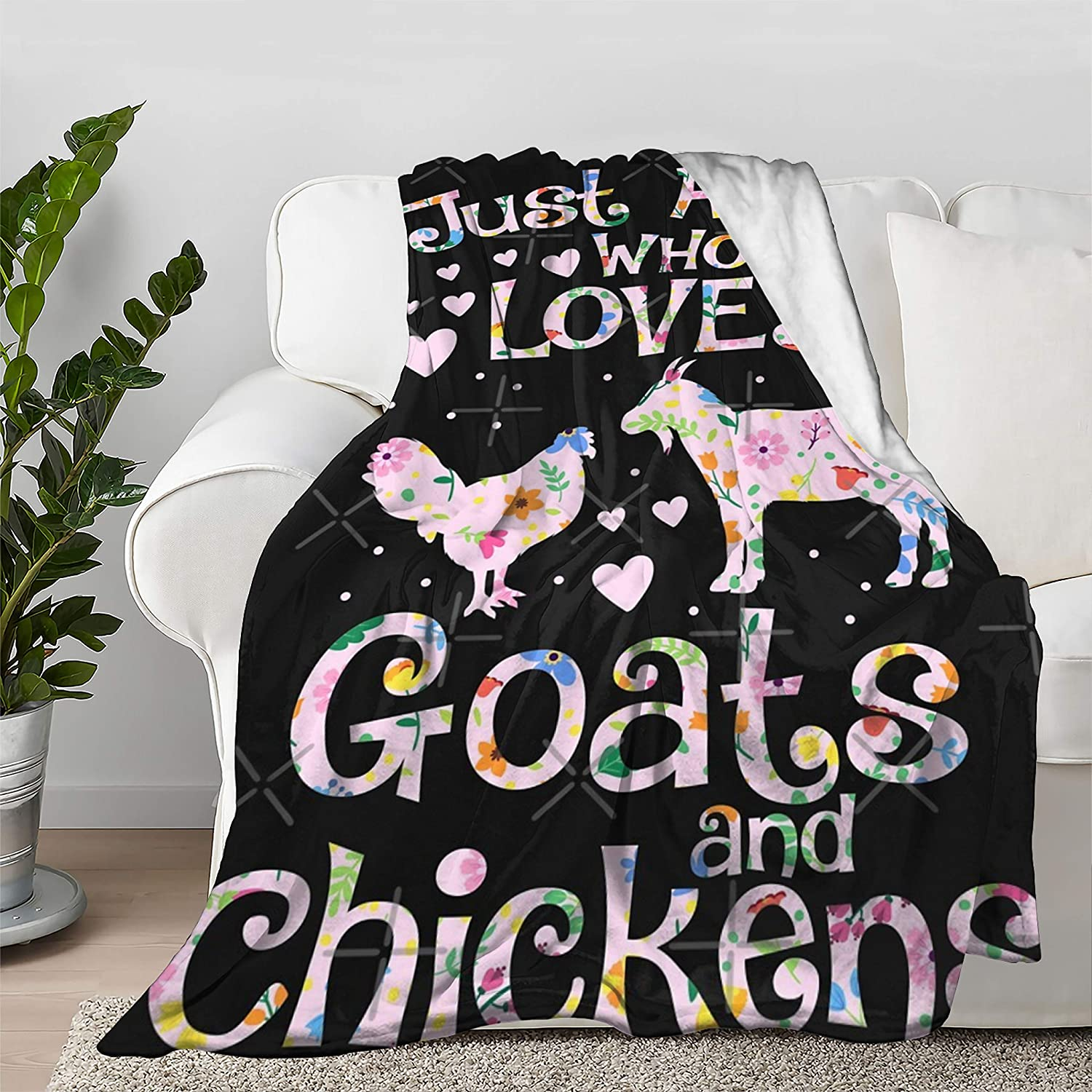 Multi-Styles Just A ギフト プレゼント ご褒美 Girl 祝開店大放出セール開催中 Who Loves Goats and Lover Chickens Farm