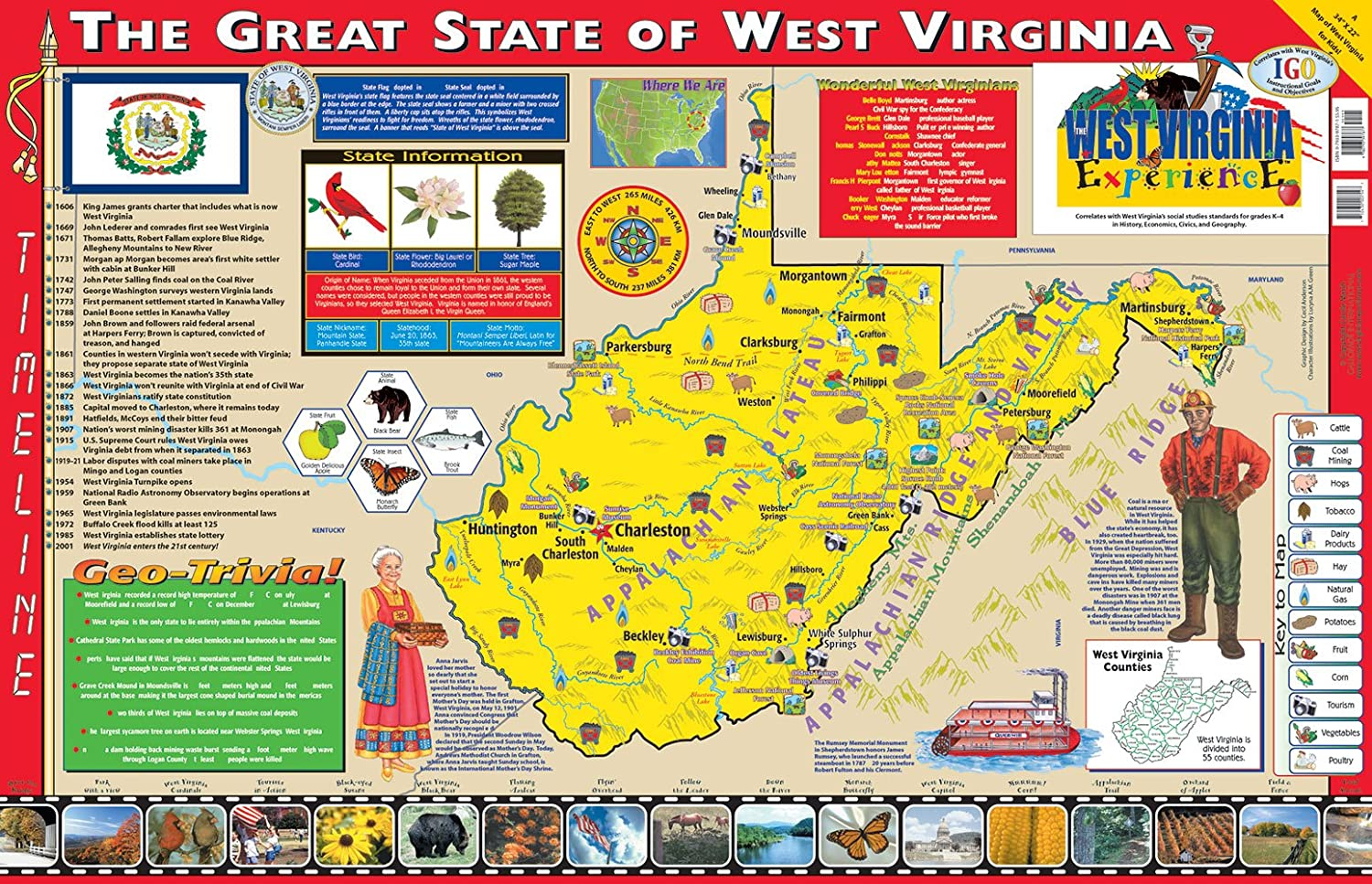 Gallopade Publishing Group 22 x 34 Inches famous Expe West The Virginia 55% OFF
