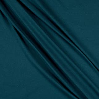 Fabric Merchants Teal Double Brushed Poly Spandex Jersey Knit