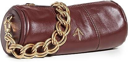 MANU Atelier Women's XX Mini Cylinder Bag, Reddish Brown, One Size