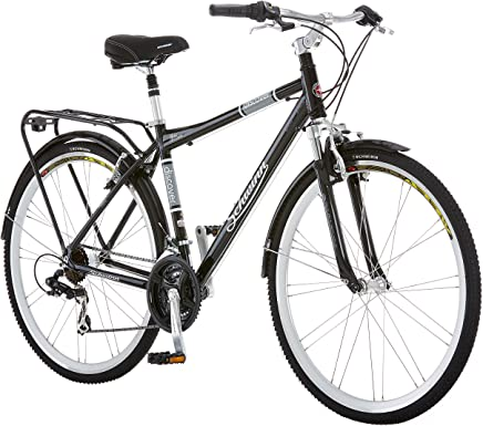 Schwinn Discover para Hombre Bicicleta híbrida (700°C Ruedas), Color Negro
