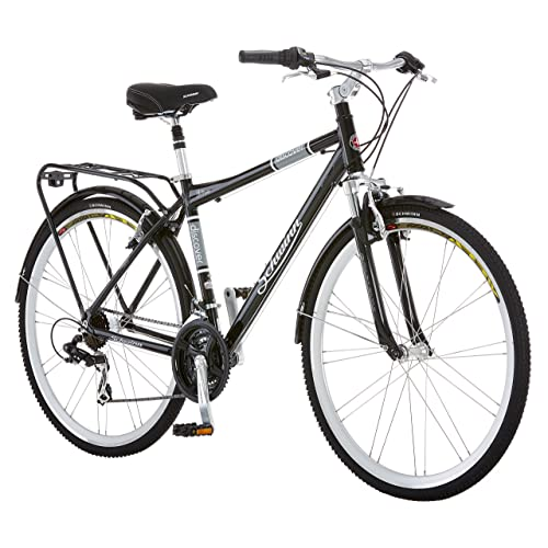 bdc9f895d7e Schwinn Discover 700c Hybrid Bicycle with Full Fenders and Rear Cargo Rack,  Men's and Women's