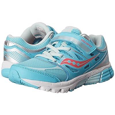 Saucony Kids Zealot A/C (Little Kid) (Turquoise/Silver/Vizi Coral) Girls Shoes