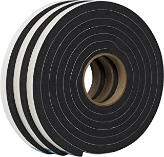 Duck Brand Self Adhesive Foam Weatherstrip Seal for Extra Large Gaps, 3/4-Inch x 1/2-Inch x 10-Feet, 3 Rolls, 284424
