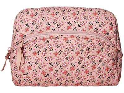 Vera Bradley Iconic Large Cosmetic (Sweethearts and Flowers) Cosmetic Case