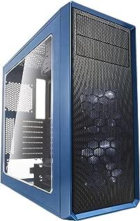 Fractal Design Focus G 2X Silent Fans USB3 Window Panel ATX PC Case - Blue