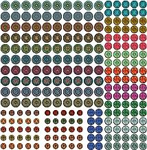 Vintage Mandala Wood Buttons for Crafts - 250 Bulk Mix Sizes Decorative Sewing Button Embellishments - Colorful DIY Art Pr...